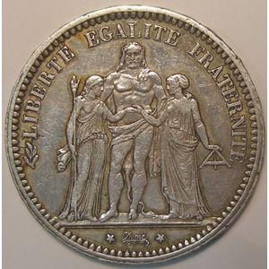 Photo numismatique Monnaies Françaises 5 Francs Gadoury 745. Hercule