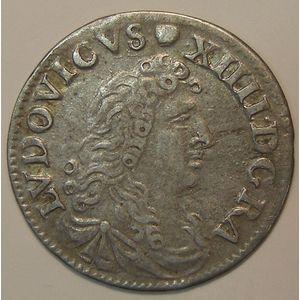 Photo numismatique Monnaies Royales Françaises LOUIS XIV (1643-1715) 4 sols des Traitants