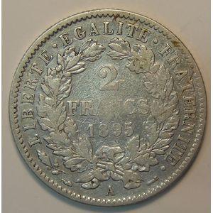 Photo numismatique Monnaies Françaises 2 Francs Gadoury 530a. Cérès