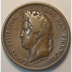 Photo numismatique Monnaies Etrangères Colonies Françaises émissions générales 10 Cent