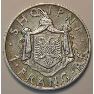 Photo numismatique Monnaies Etrangères Albanie 1 Frang