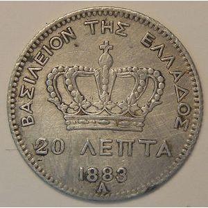 Photo numismatique Monnaies Etrangères Grèce 20 Lepta