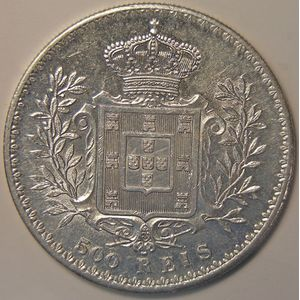 Photo numismatique Monnaies Etrangères Portugal 500 Reis