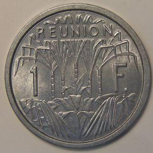 Photo numismatique Monnaies Etrangères Réunion 1 Franc