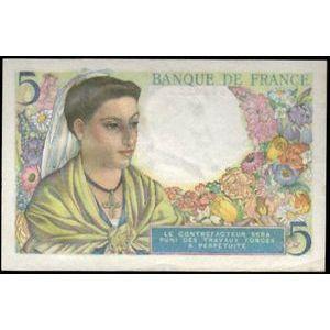 Photo numismatique Billets Billets France 5 Francs Berger