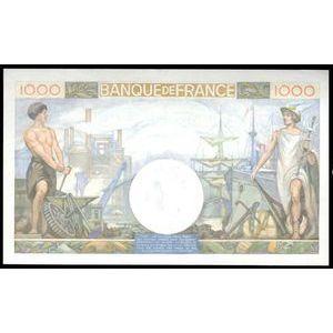 Photo numismatique Billets Billets France 1000 Francs Commerce et Industrie