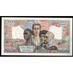 Photo numismatique Billets Billets France 5000 Francs Empire Francais