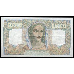 Photo numismatique Billets Billets France 1000 Francs Minerve et Hercule