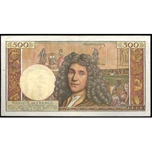 Photo numismatique Billets Billets France 500 NF Molière