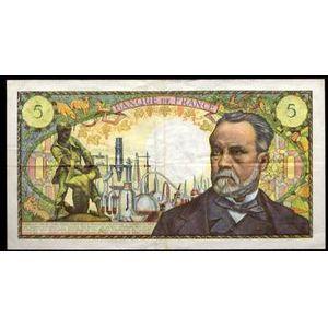 Photo numismatique Billets Billets France 5 Francs Pasteur