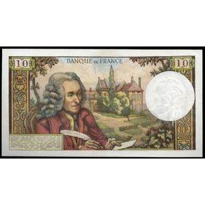 Photo numismatique Billets Billets France 10 Francs Voltaire