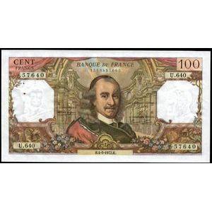 Photo numismatique Billets Billets France 100 Francs Corneille