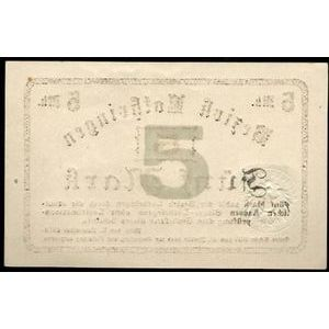 Photo numismatique Billets Billets d'Alsace-Moselle Metz