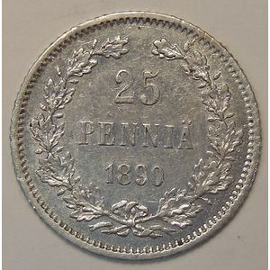 Photo numismatique Monnaies Etrangères Finlande 25 Penniä