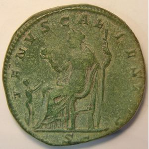 Photo numismatique Monnaies Empire Romain JULIE SOAEMIAS (Mère d'Elagabale) Sesterce