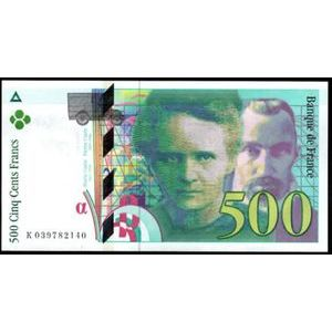 Photo numismatique Billets Billets France 500 Francs Pierre et Marie Curie