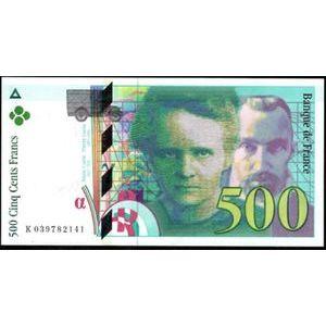 Photo numismatique Billets Billets France 500 Francs Pierre et Marie Curie