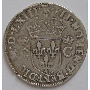 Photo numismatique Monnaies Royales Françaises CHARLES IX (1560-1574) Demi-Teston
