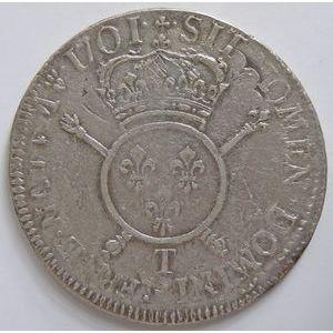 Photo numismatique Monnaies Royales Françaises LOUIS XIV (1643-1715) Ecu aux Insignes