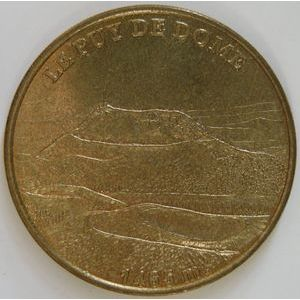 Photo numismatique Monnaies Jetons et médailles Jetons Touristiques de la Monnaie de Paris Département 63 Puy-de-Dome