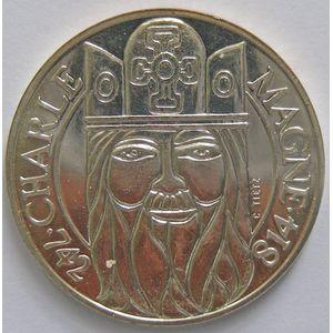 Photo numismatique Monnaies Françaises 100 Francs Gadoury 905. Charlemagne