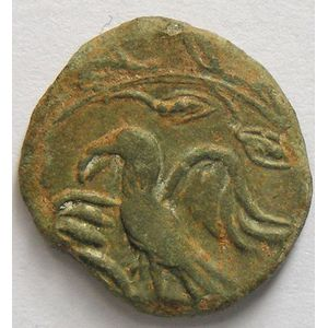 Photo numismatique Monnaies Gauloises Médiomatriques Bronze AMBACTVS