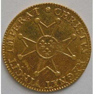 Photo numismatique Monnaies Royales Françaises LOUIS XV (1715-1774) Louis d'or à la croix du Saint Esprit