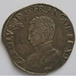 Photo numismatique Monnaies Royales Françaises CHARLES IX (1560-1574) Teston