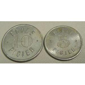 Photo numismatique Monnaies Monnaies et jetons de nécessité Paris Ecole Pigier