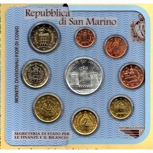Photo numismatique Monnaies Euros Saint Marin Série 2005