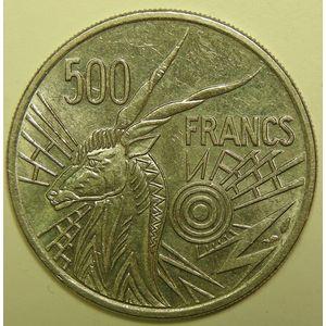 Photo numismatique Monnaies Etrangères Afrique centrale 500 Francs
