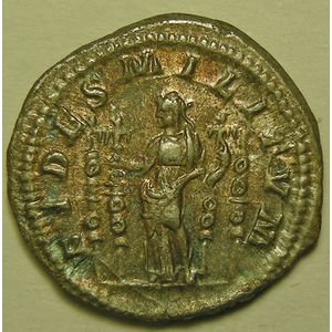 Photo numismatique Monnaies Empire Romain MACRIN (217-218) Denier