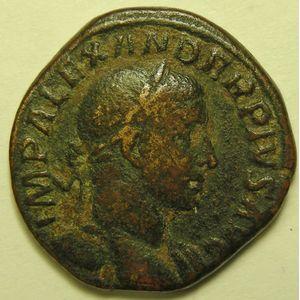 Photo numismatique Monnaies Empire Romain ALEXANDRE SEVERE (222-235) Sesterce