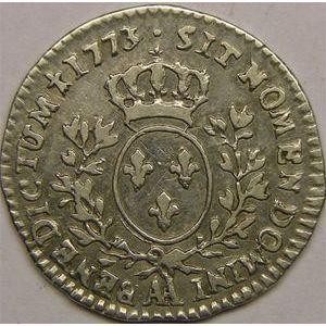 Photo numismatique Monnaies Royales Françaises LOUIS XV (1715-1774) 1/10ème d'écu à la vieille tête