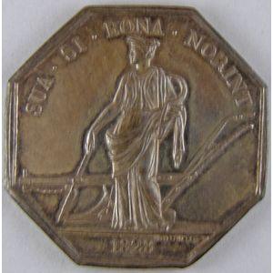 Photo numismatique Monnaies Jetons et médailles Jeton octogonal en argent Société d'Agriculture