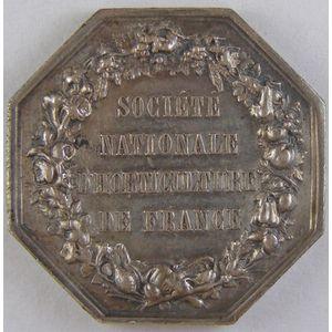 Photo numismatique Monnaies Jetons et médailles Jeton octogonal en argent Horticulture