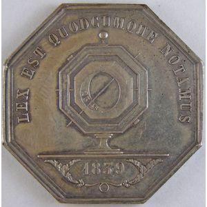 Photo numismatique Monnaies Jetons et médailles Jeton octogonal en argent Notaires