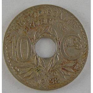 Photo numismatique Monnaies Françaises Monnaies fautées 10 Centimes