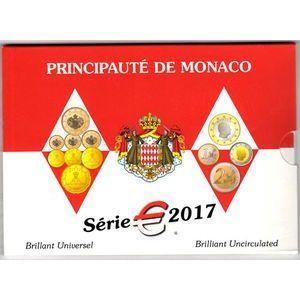 Photo numismatique Monnaies Euros Monaco Coffret BU 2017