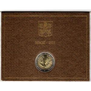 Photo numismatique Monnaies Euros Vatican 2 Euro 2011