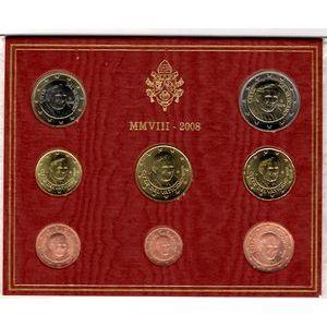 Photo numismatique Monnaies Euros Vatican Coffret BU 2008