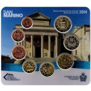 Photo numismatique Monnaies Euros Saint Marin Coffret BU 2014