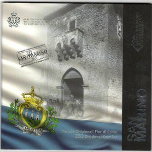 Photo numismatique Monnaies Euros Saint Marin Coffret BU 2013