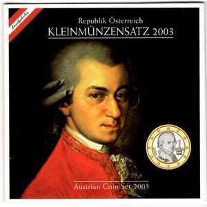 Photo numismatique Monnaies Euros Autriche Coffret BU 2003