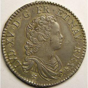 Photo numismatique Monnaies Royales Françaises LOUIS XV (1715-1774) 1/2 écu Vertugadin