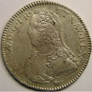 Photo numismatique Monnaies Royales Fran�aises LOUIS XV (1715-1774) 1/2 �cu aux branches d'olivier