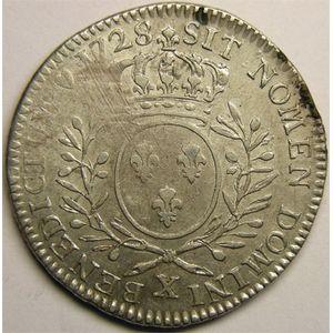 Photo numismatique Monnaies Royales Françaises LOUIS XV (1715-1774) 1/2 écu aux branches d'olivier