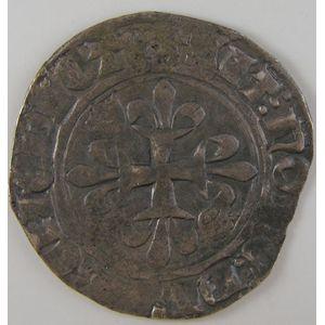 Photo numismatique Monnaies Royales Françaises CHARLES VI (1380-1422) Gros Florette