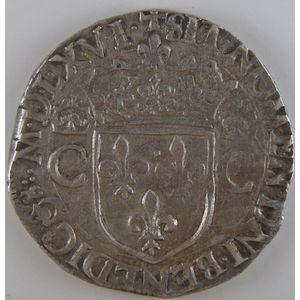 Photo numismatique Monnaies Royales Françaises CHARLES IX (1560-1574) Teston
