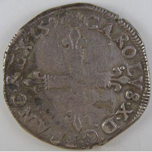 Photo numismatique Monnaies Royales Françaises CHARLES X (1589-1590) 1/4 d'écu